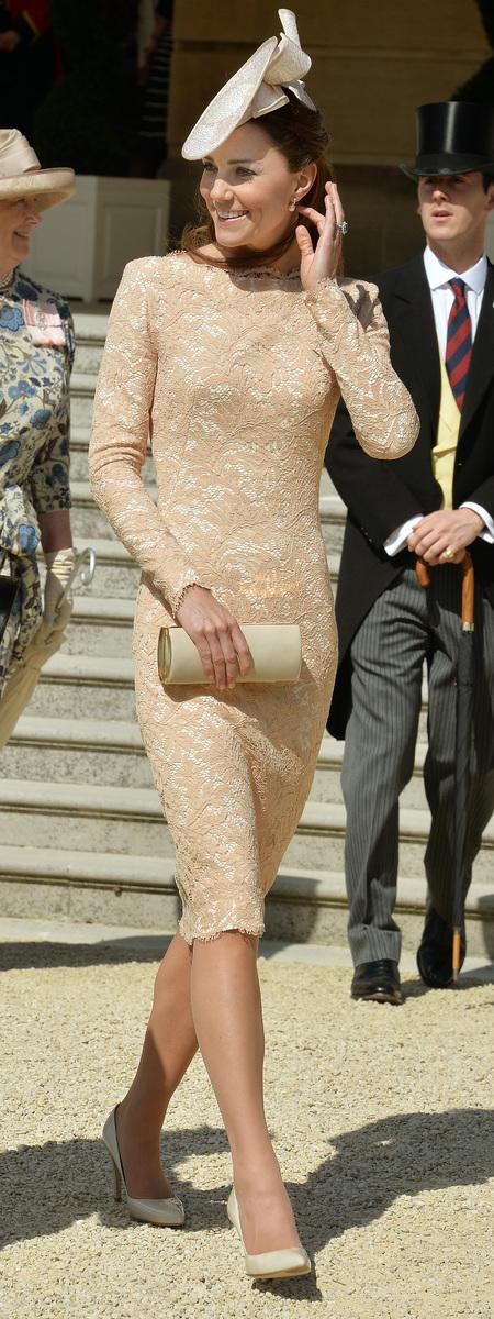 Kate Middleton recycles Alexander McQueen dress for Garden Party - Kate Middleton style - Kate Middleton fashion - Alexander McQueen lace dress - fashion news - shopping bag - handbag.com
