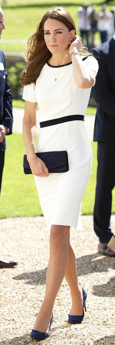 Kate Middleton wears Jaeger high street sale dress - Kate Middleton style - Kate Middleton fashion - Alexander McQueen lace dress - fashion news - shopping bag - handbag.com