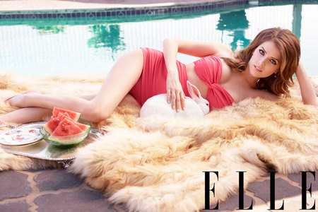 Anna Kendrick for Elle July issue - Anna Kendrick wearing black dress - celebrity interview - Pitch Perfect - day bag - news - handbag.com