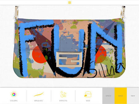 The Fendi Baguette App - customise your own Fendi Baguette bag - designer handbags - Fendi news - Carrie Bradshaw - handbag news - shopping bag - handbag.com