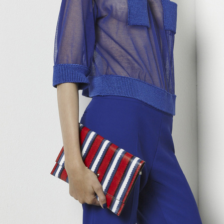 Armani resort collection handbags - striped clutch - designer handbags - handbag shopping - news - shopping bag - handbag.com