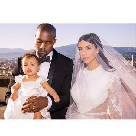 Kim, Kanye and North