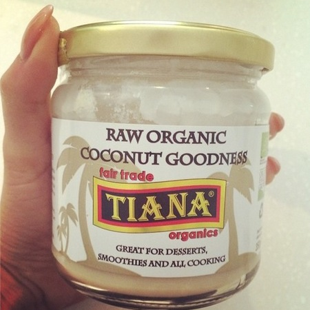 Millie Mackintosh - tasty tweet - raw coconut - add to blueberry pancakes - handbag.com