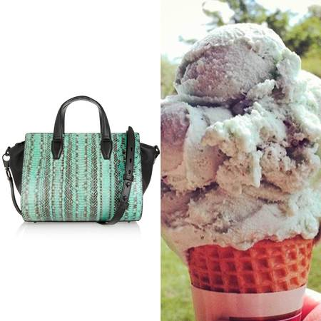 Get handbag shopping inspiration from handbags - handbag ice cream flavours - summer handbags - green handbags - handbag shopping - shopping bag -handbag.com