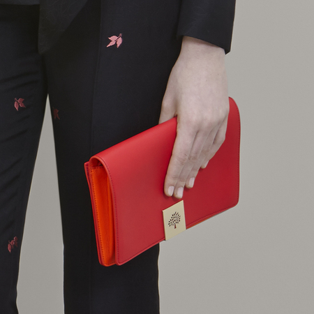 Red Mulberry clutch bag