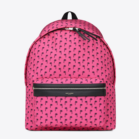 Saint Laurent pink artists backpack - YSL bags - new designer bags - artist collaborations - handbag news - shopping bag - handbag.com