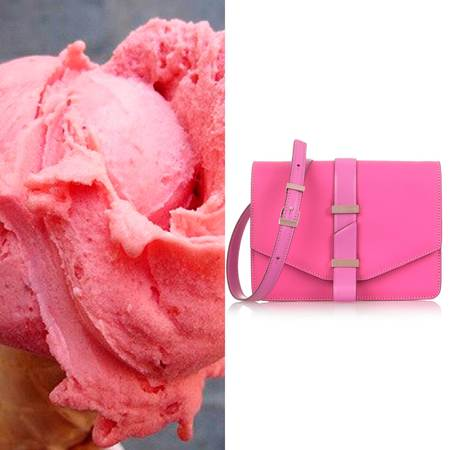Get handbag shopping inspiration from handbags - handbag ice cream flavours - summer handbags - pink handbags - handbag shopping - shopping bag -handbag.com