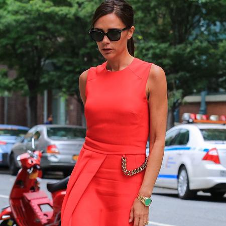 victoria beckham-red dress trend-summer fashion-celebrity style-handbag.com