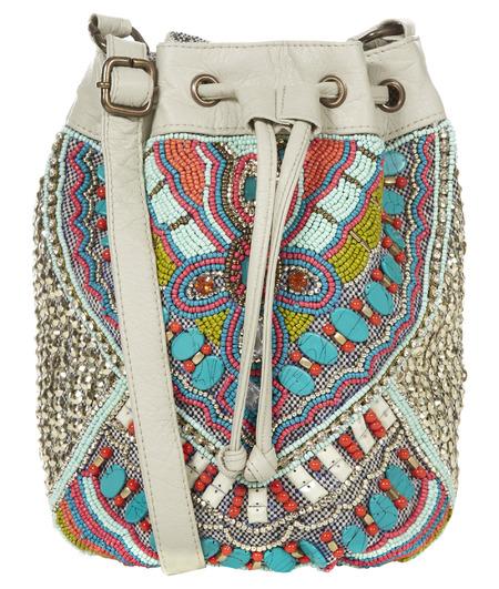 primark embellised blue duffle bag - primark embellished bags collection - shopping bag - handbag