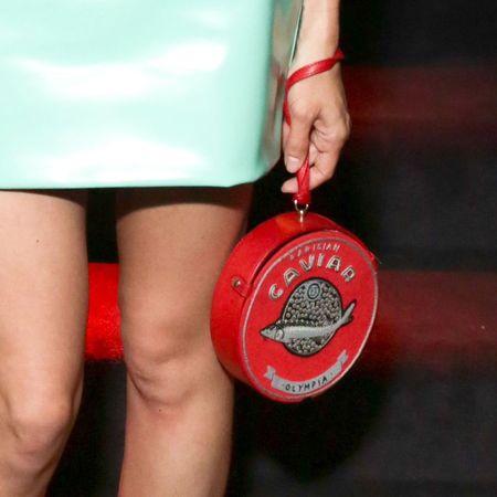 Annabelle Dexter-Jones' Olympia Le-Tan caviar clutch