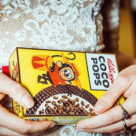 anya hindmarch-coco pops clutch bag-box bag-cereal box handbag-designer bags for autumn winter 2014-handbag.com