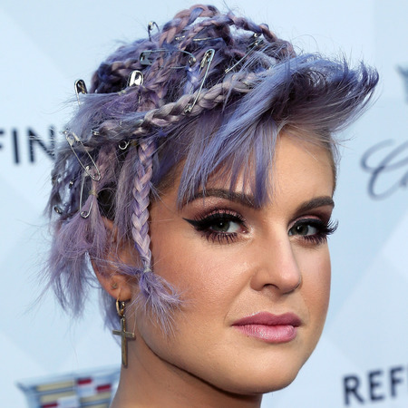 Kelly Osbourne - crazy braids - punk - short hair - purple - handbag.com