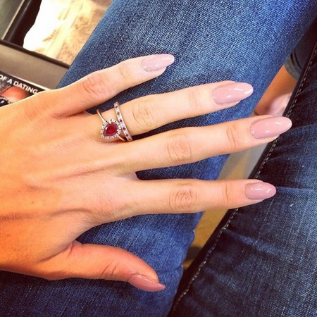 Millie Mackintosh's light pink nails