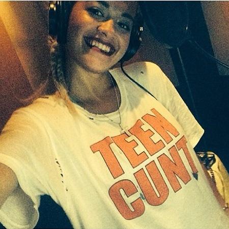 Rita Ora - teen cunt t-shirt - rude vulgar tee - handbag.com