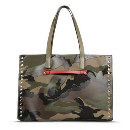 valentino camo tote - best green handbags - shopping bag - handbag