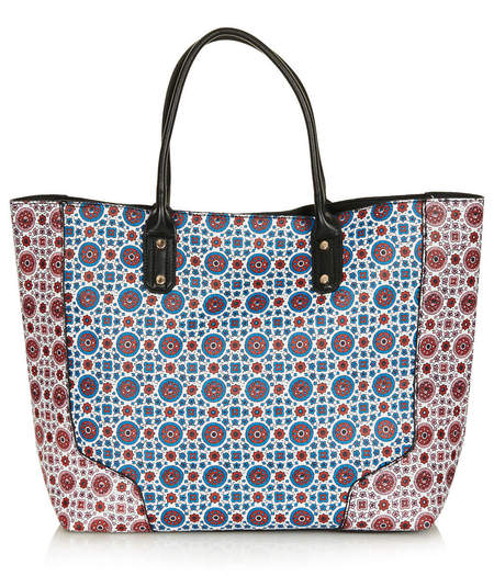 Topshop's £28 shopper tote in tile print - Budget bag buys - cheap handbags from Topshop - buy it on your break - handbag.com