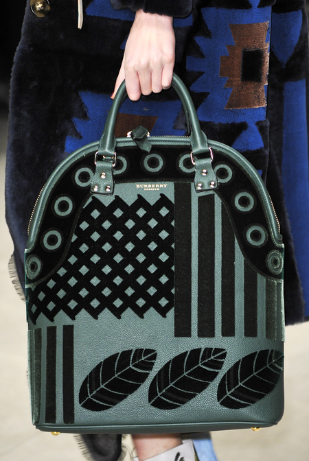 Green and black velvet Bloomsbury bag