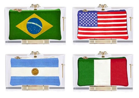 Charlotte Olympia world cup bags - pandora flag box clutch bag - handbag.com