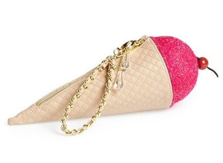 Betty Johnson ice cream clutch - bags that look like food - shopping bag - handbag