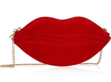 charlotte olympia lips bag - best red bags - shopping bag - handbag