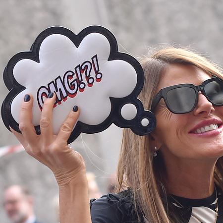 Anna Dello Russo's Sophia Webster OMG clutch bag