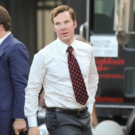 Benedict Cumberbatch - Black Mass on set - in a suit - handsome - hot - handbag.com