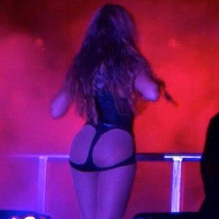 Beyonce's bum flashing leotard