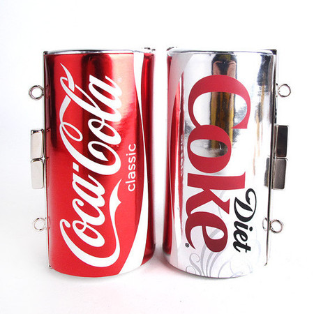 coke can clutch patricia field - bags that look like food - shopping bag - handbag
