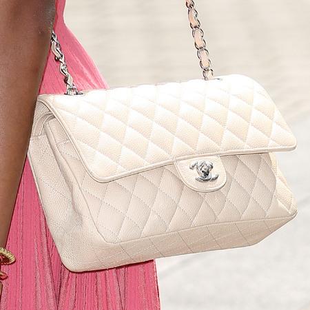Elaina Watley's cream Chanel quilted handbag