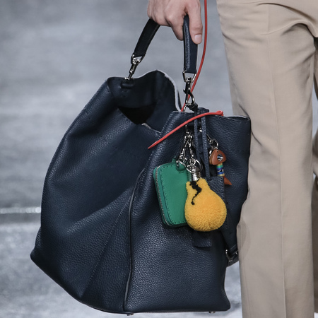 fendi-man bag-milan fashion week menswear-spring summer 2015-navy peekaboo bag-lightbulb fendi bag pom pom-handbag.com