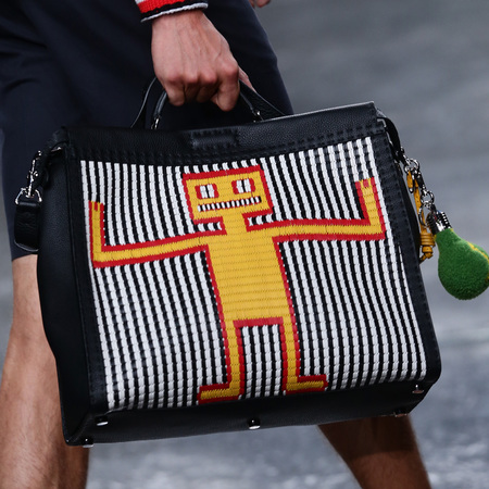 fendi-man bag-milan fashion week menswear-spring summer 2015-robot print bag-peekaboo-handbag.com