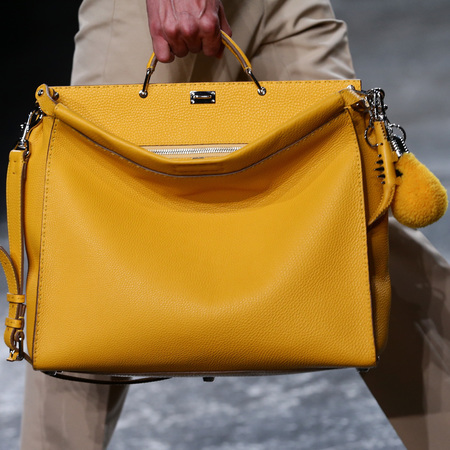 fendi-man bag-milan fashion week menswear-spring summer 2015-yellow peekaboo bag-lightbulb bag accessory-handbag.com