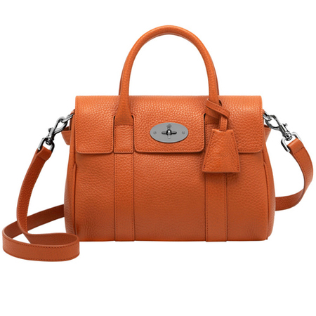 mulberry bayswater satchel bag-orange-leather-summer colour trends 2014-handbag.com