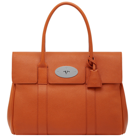 mulberry classic bayswater bag-orange-leather-summer colour trends 2014-handbag.com