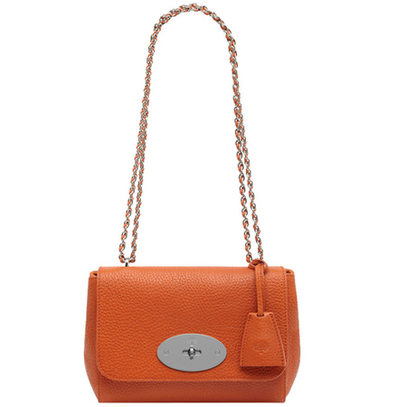 mulberry lily bag-orange-leather-summer colour trends 2014-handbag.com