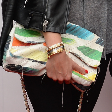 MIC Victoria Baker-Harber's rainbow Chanel bag