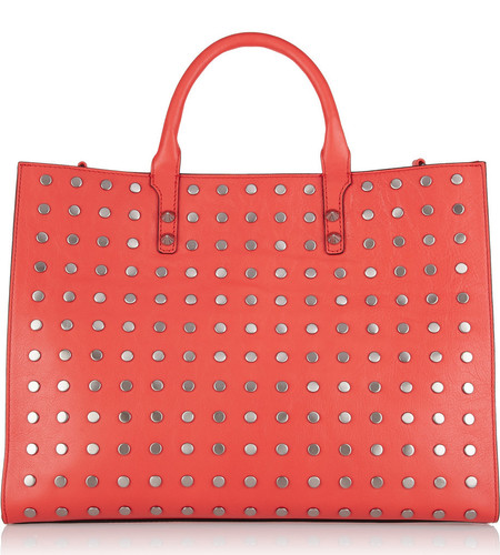 rebecca minkoff studded bag - best red bags - shopping bag - handbag