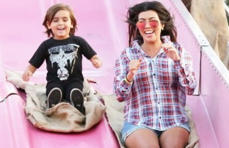 kourtney kardashian and Mason Disick - stylish kids - cooler than their mums - shopping feature - shopping bag - handbag.com
