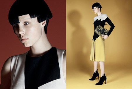 bottega veneta aw14 campaign - edie campbell models bag - shopping bag - handbag
