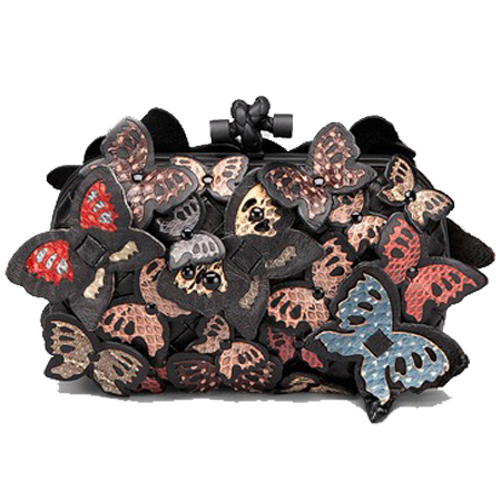 bottega venetta butterfly clutch - best animal shaped handbags - shopping bag - handbag