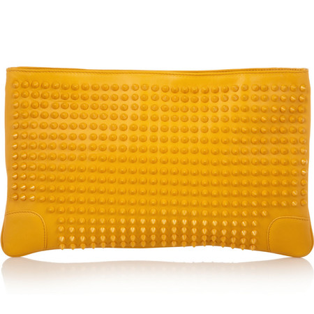 christian louboutin yellow clutch - best yellow bags to buy now - shopping bag - handbag