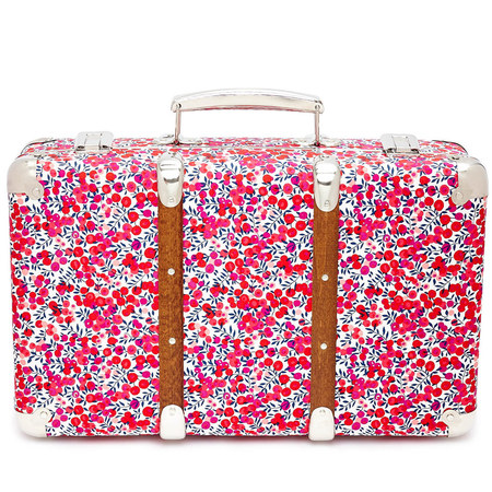 Liberty flower print mini suitcase - travel suitcase - hand luggage - buy it on your break - red case - Liberty of London - shopping bag - handbag.com