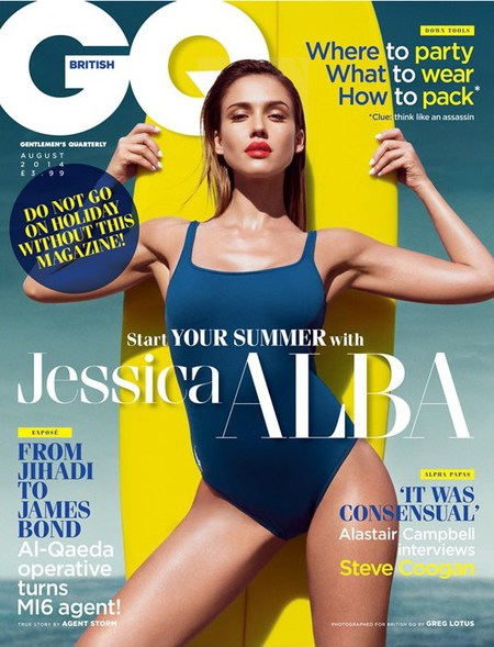 jessica alba for GQ  - fitness secrets - gym news -  gym bag - handbag.com