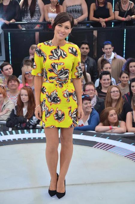 Yellow printed Jonathan Saunders dress