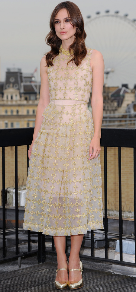 keira knightley-begin again premiere-simone rocha dress-check print-celebrity fashion-handbag.com