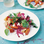 Antioxidant rich sweet potato & goat's cheese salad recipe