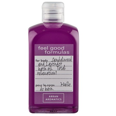 Feel Good Formulas Sandalwood & Lavender Bath Oil-arran aromatics-how to have the perfect bath-handbag.com