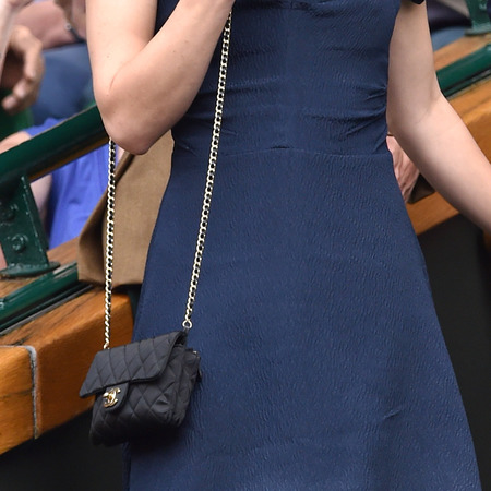Keira Knightley takes her Chanel bag to Wimbledon