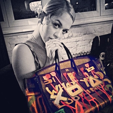 Rita Ora's designer handbag collection
