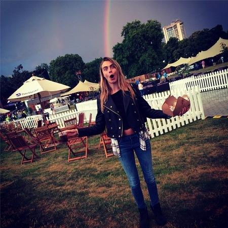 Cara Delevingne at BST Hyde Park 2014